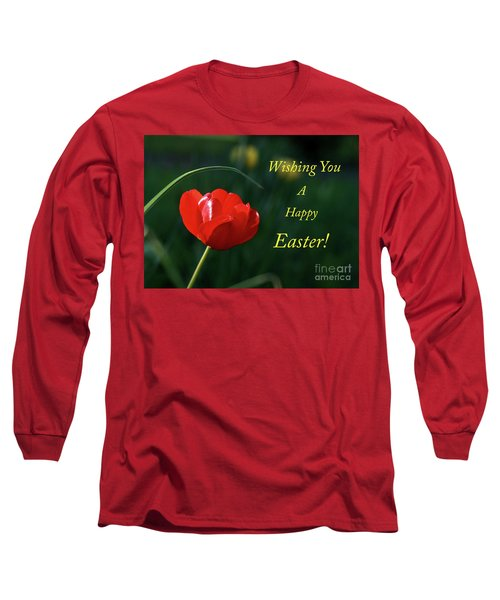 Long Sleeve T-Shirt featuring the photograph Easter Tulip by Douglas Stucky