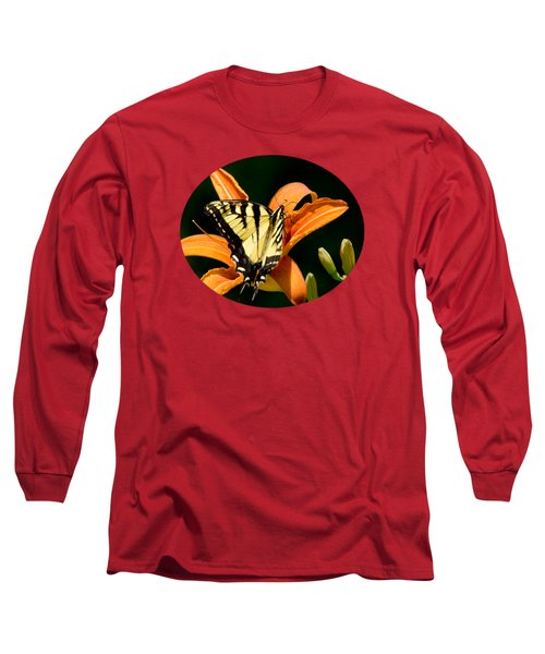Long Sleeve T-Shirt featuring the photograph Eastern Tiger Swallowtail Butterfly-1 by Christina Rollo