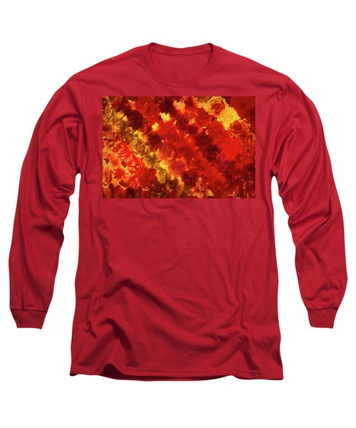 Edgy Flowers Through Glass Long Sleeve T-Shirt
