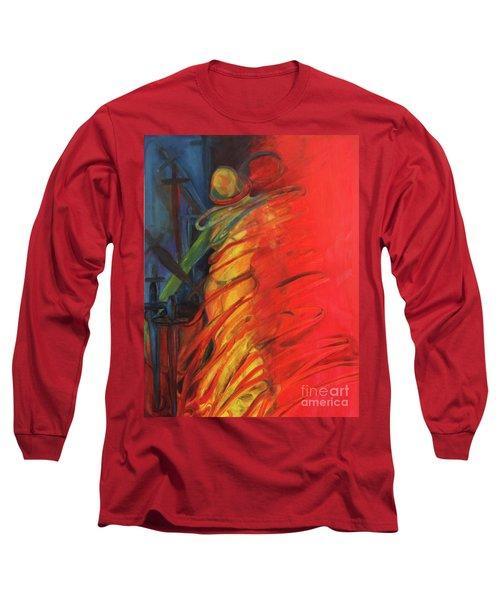 Eight Of Swords Long Sleeve T-Shirt by Daun Soden-Greene