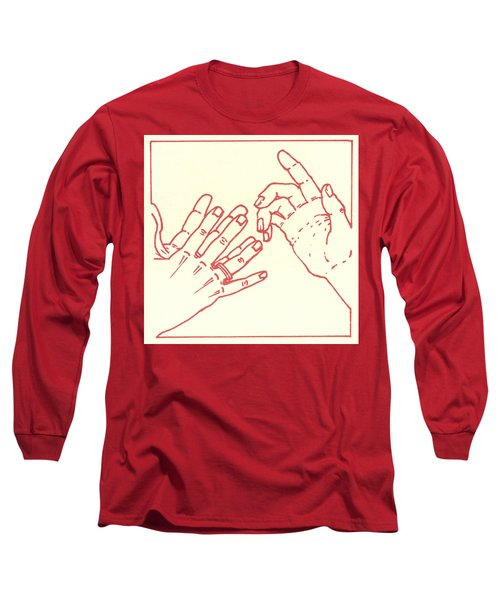 Long Sleeve T-Shirt featuring the drawing Eighth Station- The Women Of Jerusalem Weep Over Jesus  by William Hart McNichols