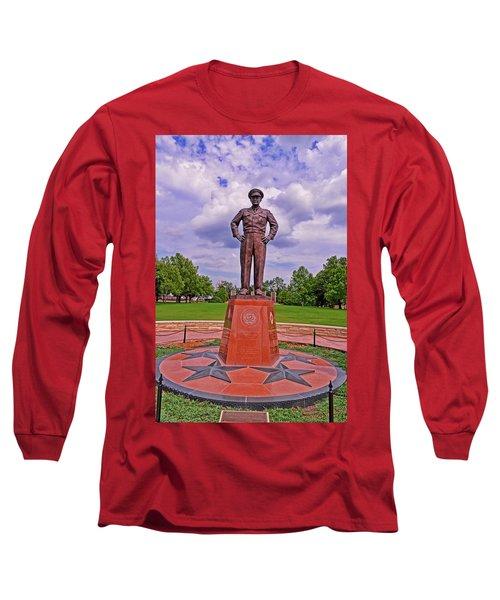 Eisenhower Museum Courtyard Memorial 001 Long Sleeve T-Shirt by George Bostian