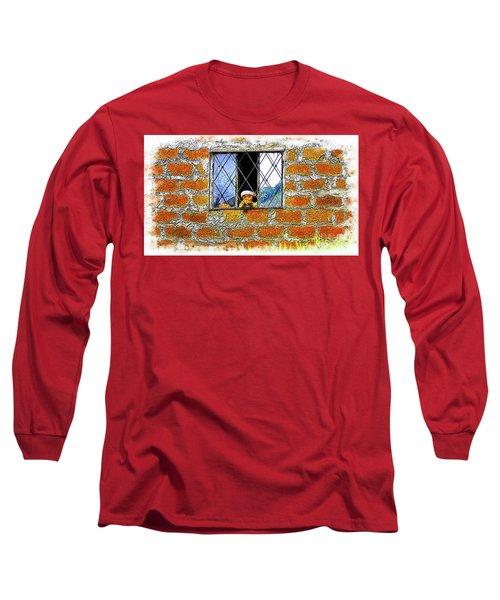 El Altar Kid 872 Long Sleeve T-Shirt by Al Bourassa