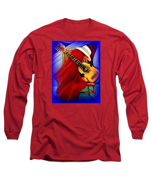 El Cuatro De Papi Long Sleeve T-Shirt by Yolanda Rodriguez