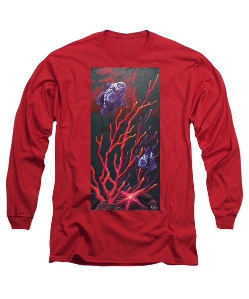 Long Sleeve T-Shirt featuring the painting Electric Clown by William Love