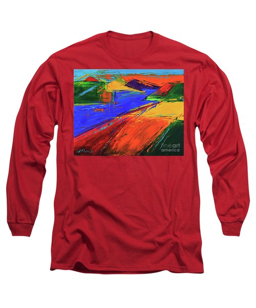 Electric Color Long Sleeve T-Shirt by Jeanette French