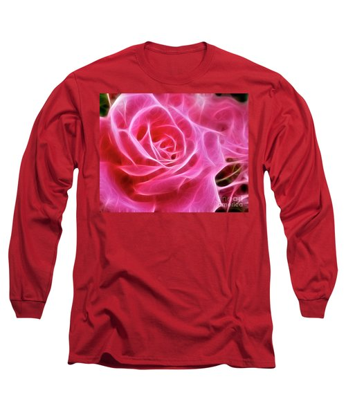 Electric Pink Long Sleeve T-Shirt