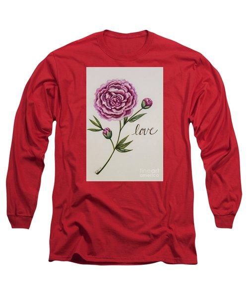 Elegant Love Long Sleeve T-Shirt by Elizabeth Robinette Tyndall