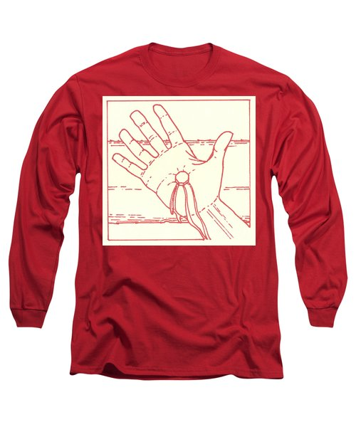 Long Sleeve T-Shirt featuring the drawing Eleventh Station- Jesus Is Nailed To The Cross  by William Hart McNichols