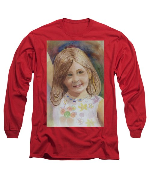 Long Sleeve T-Shirt featuring the painting Elizabeth by Donna Walsh