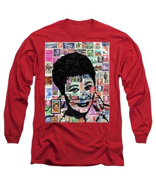 Lady Ella Fitzgerald Long Sleeve T-Shirt by Everett Spruill
