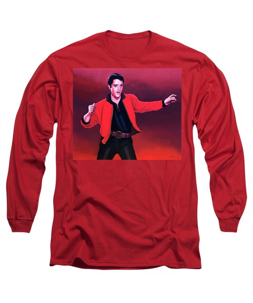 Elvis Presley 4 Painting Long Sleeve T-Shirt