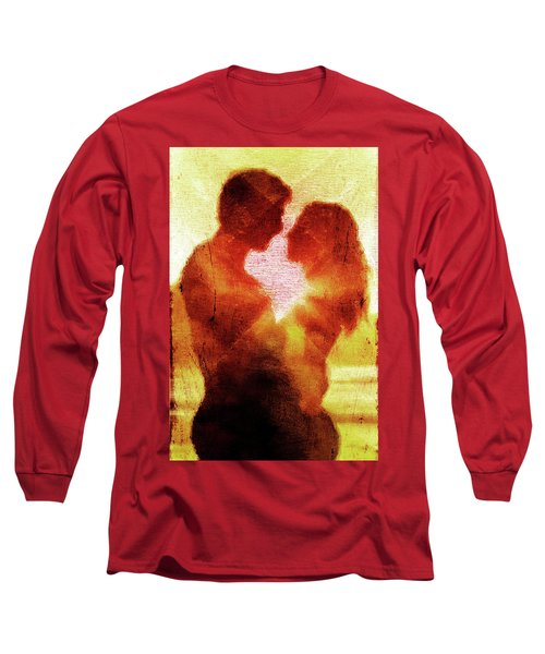 Long Sleeve T-Shirt featuring the digital art Embrace by Andrea Barbieri