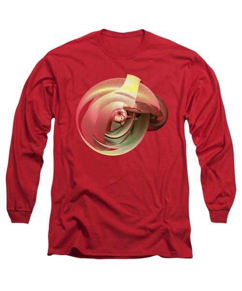 Embryo Abstract Long Sleeve T-Shirt by Linda Phelps