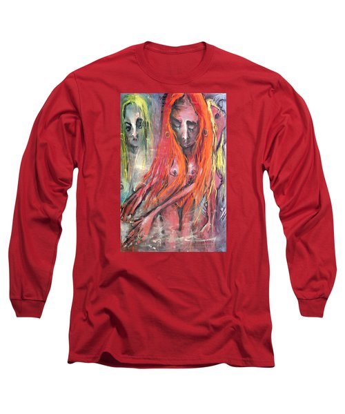 Emerging Reminders In Swamp Vapor Long Sleeve T-Shirt by Kenneth Agnello