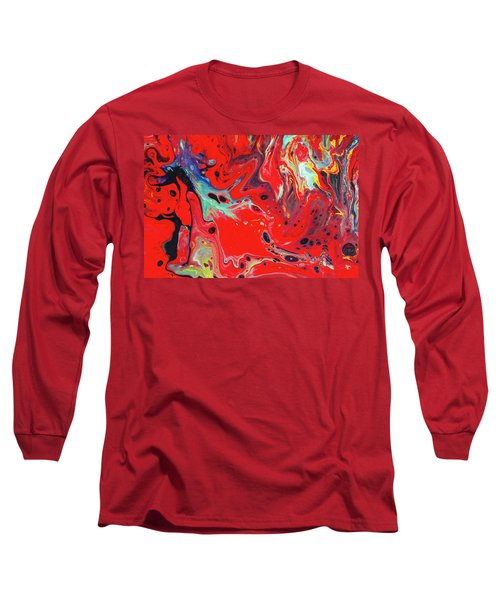 Emotional Soul - Red Abstract Canvas Painting Long Sleeve T-Shirt