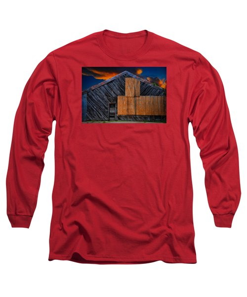 Long Sleeve T-Shirt featuring the photograph Empty Barn by Harry Spitz