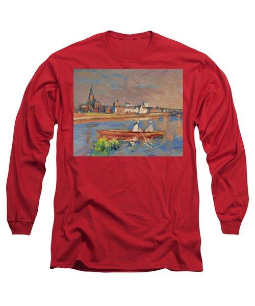 En Bateau De Renoir Sur La Meuse A Maestricht Long Sleeve T-Shirt