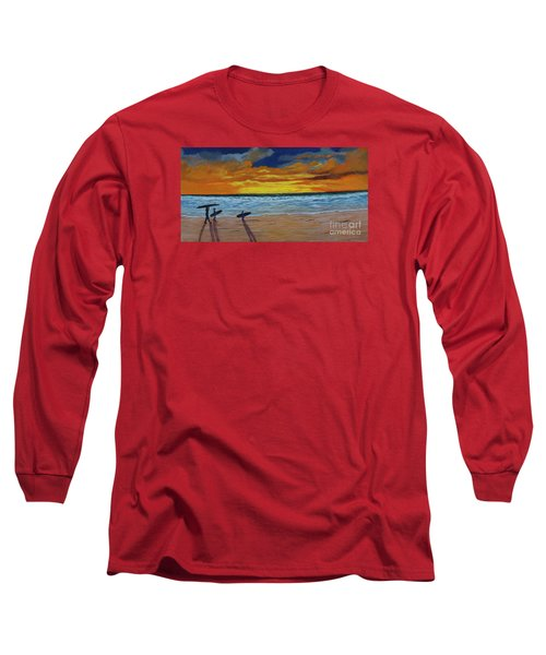 Long Sleeve T-Shirt featuring the painting End Of Day by Myrna Walsh