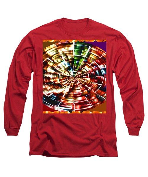 Energy Aura Cleaning Wheel In Motion Yoga Meditation Mandala By Navinjoshi At Fineartamerica.com Long Sleeve T-Shirt