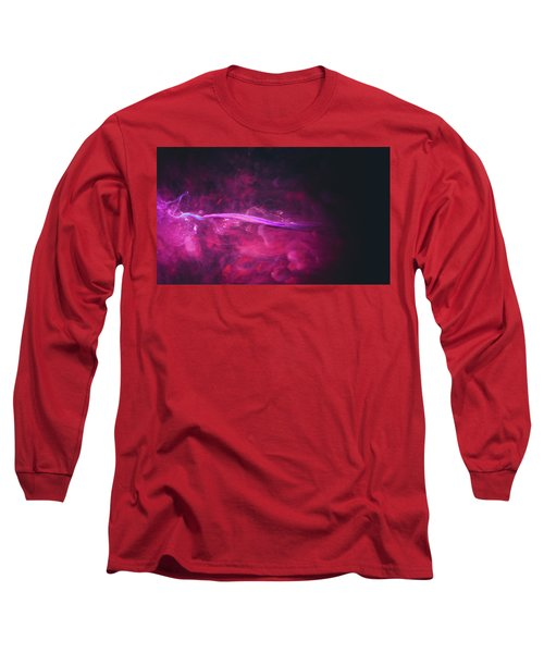 Enigma - Purple Abstract Photography Long Sleeve T-Shirt by Modern Art Prints
