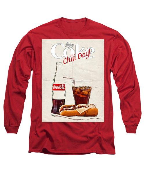 Enjoy Coca-cola With Chili Dog Long Sleeve T-Shirt