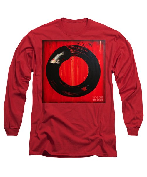 Enso With Koi Red And Gold Long Sleeve T-Shirt