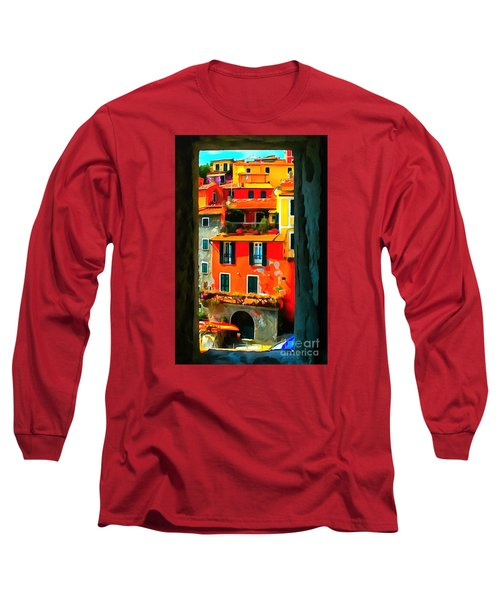 Entry Way Painting Long Sleeve T-Shirt by Catherine Lott