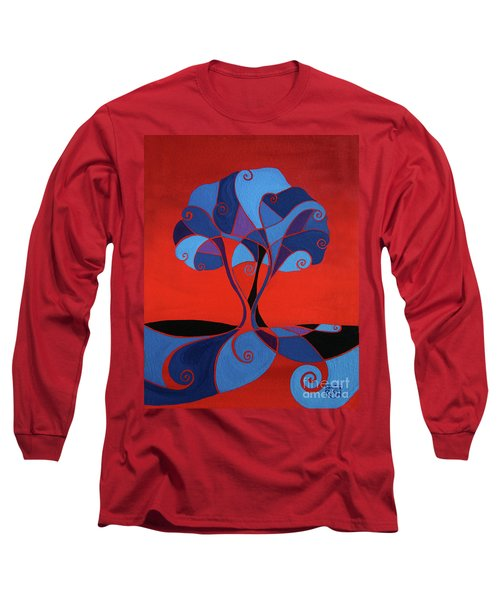 Enveloped In Red Long Sleeve T-Shirt