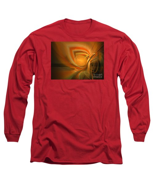 Equilibrium - Abstract Art Long Sleeve T-Shirt by Sipo Liimatainen