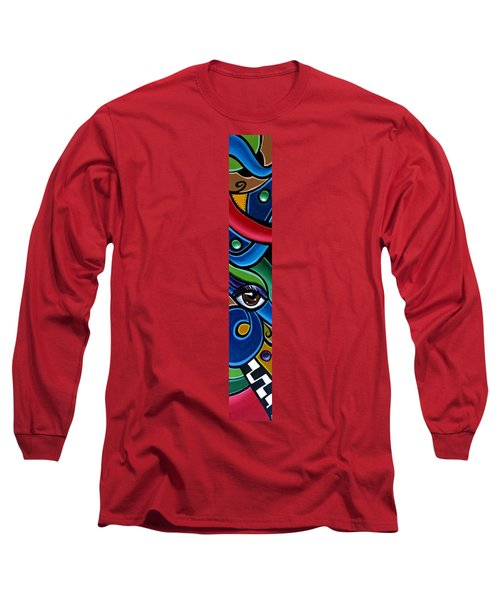 Escape To Venice - Abstract Art Painting, Modern Abstract Eye Art - Ai P. Nison Long Sleeve T-Shirt