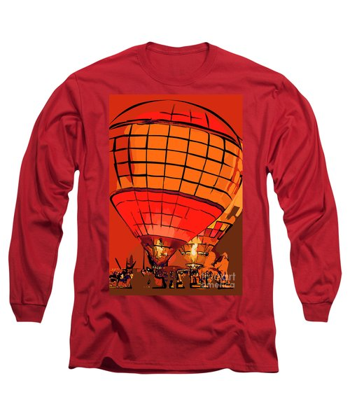 Evening Glow Red And Yellow In Abstract Long Sleeve T-Shirt