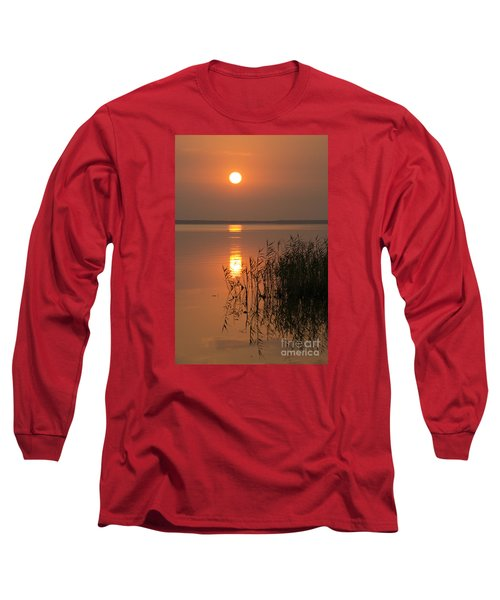 Long Sleeve T-Shirt featuring the photograph Evening Reflections by Inge Riis McDonald