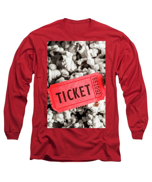 Event Ticket Lying On Pile Of Popcorn Long Sleeve T-Shirt