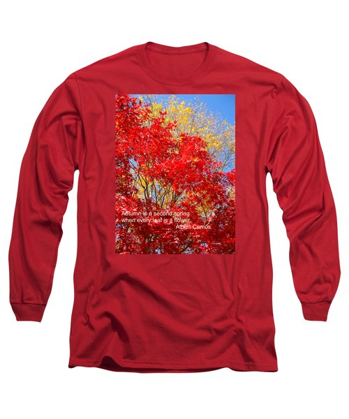 Every Leaf Is A Flower Long Sleeve T-Shirt by Deborah Dendler
