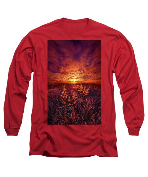 Long Sleeve T-Shirt featuring the photograph Every Sound Returns To Silence by Phil Koch