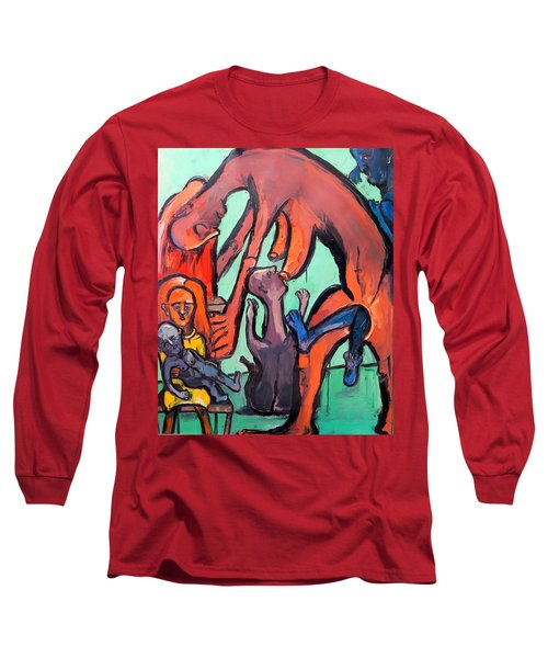 Evolution Stuck - Fertility Long Sleeve T-Shirt by Kenneth Agnello