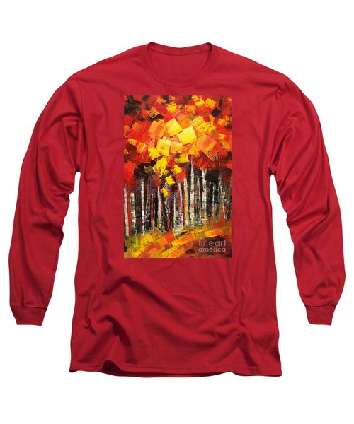 Long Sleeve T-Shirt featuring the painting Exaltant by Tatiana Iliina