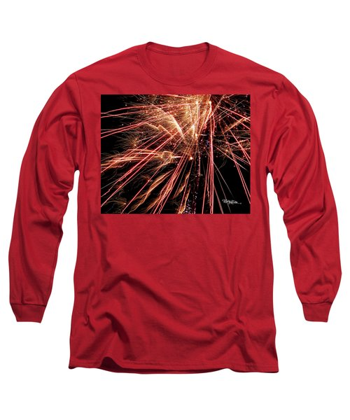Long Sleeve T-Shirt featuring the photograph Exciting Fireworks #0734 by Barbara Tristan