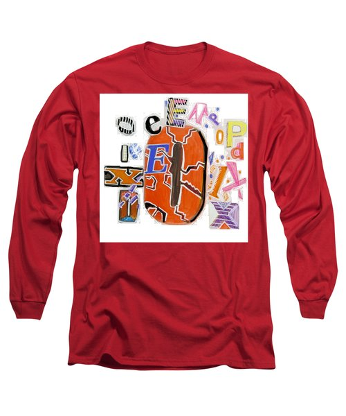 Long Sleeve T-Shirt featuring the painting Explode - Tee Shirt Art by Mudiama Kammoh