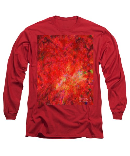 Explosion In Watercolor Long Sleeve T-Shirt