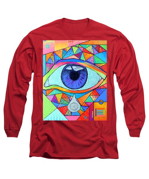 Eye With Silver Tear Long Sleeve T-Shirt