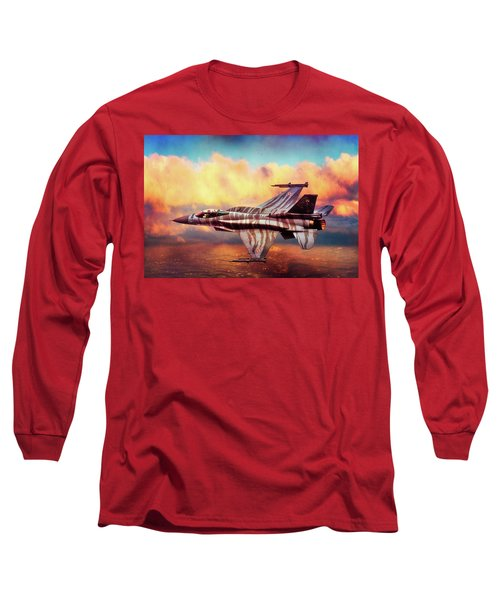 Long Sleeve T-Shirt featuring the photograph F16c Fighting Falcon by Chris Lord