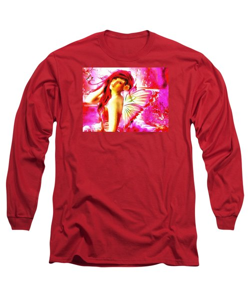 Fairy Angel In The Mix In Thick Paint Long Sleeve T-Shirt