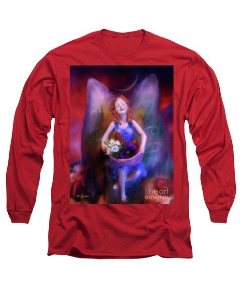Fairy Of The Garden Long Sleeve T-Shirt by Joseph J Stevens