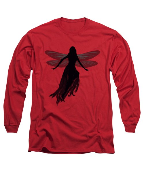 Fairy Silhouette Long Sleeve T-Shirt by Tom Conway