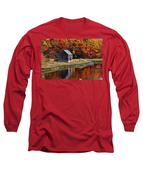 Fall At Rye Long Sleeve T-Shirt by Tricia Marchlik