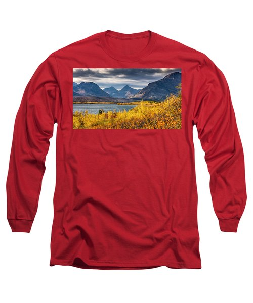 Fall Colors In Glacier National Park Long Sleeve T-Shirt by Pierre Leclerc Photography