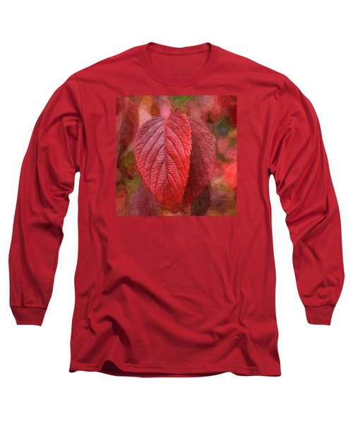 Fall Crimson Long Sleeve T-Shirt