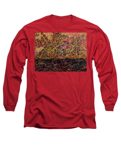 Long Sleeve T-Shirt featuring the digital art Fall Homage To Jackson by Walter Fahmy